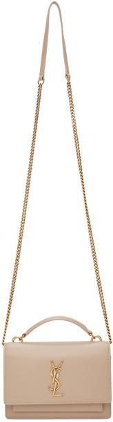 Saint Laurent Beige Sunset Chain Wallet Bag