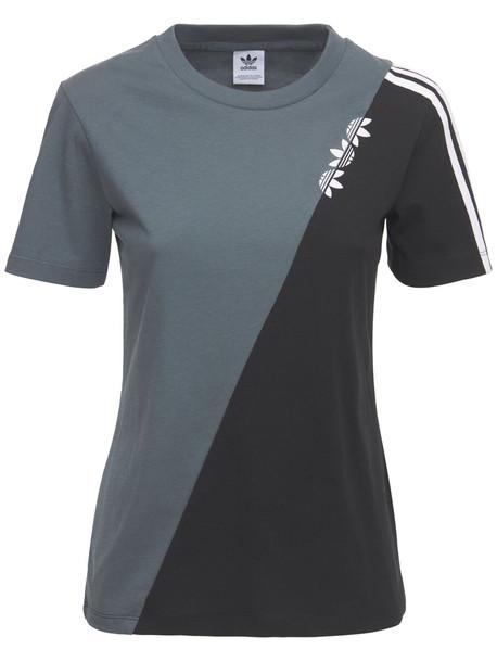 ADIDAS ORIGINALS Regular T-shirt in black / blue