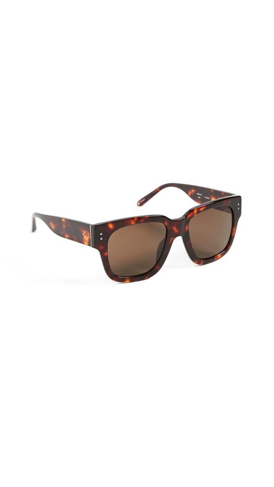 Linda Farrow Luxe Linda Farrow Luxe Seymour Sunglasses in brown / gold / yellow