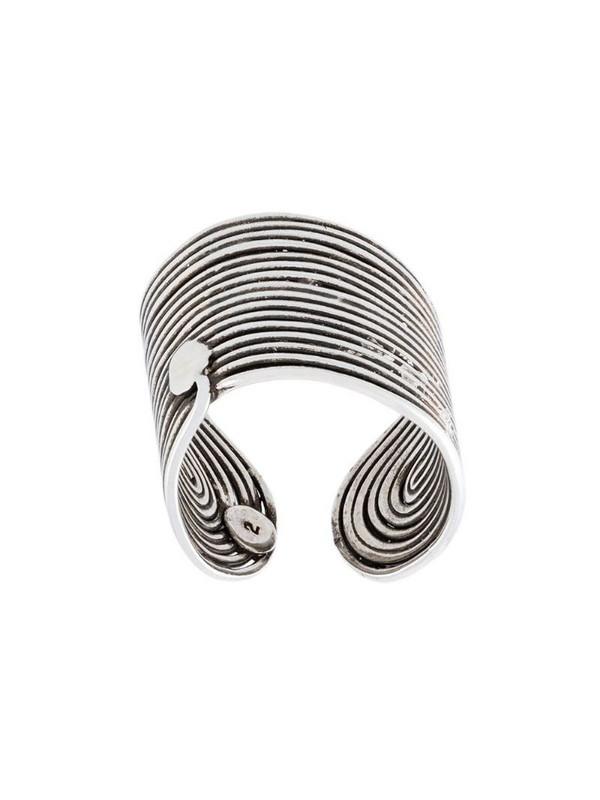 Gas Bijoux Wave ring in metallic