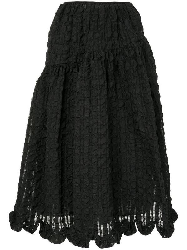 Cecilie Bahnsen crinkle-effect midi skirt in black