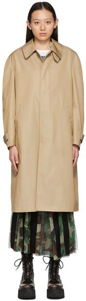 Junya Watanabe Versace Edition Gabardine Coat in black / white / beige