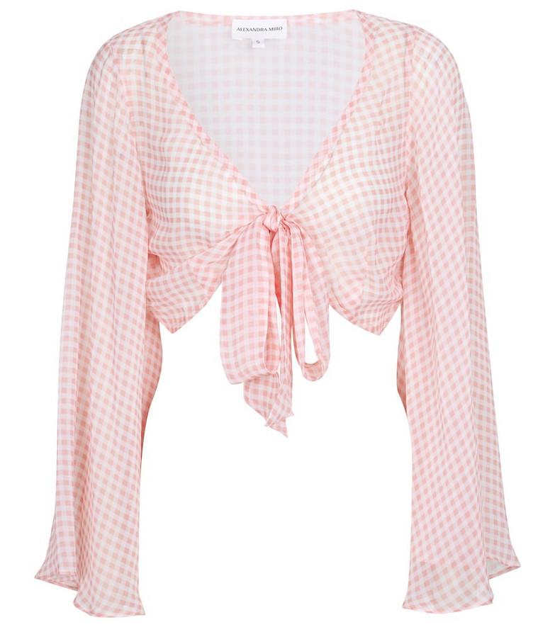 Alexandra Miro Exclusive to Mytheresa – Natalia gingham crop top in pink