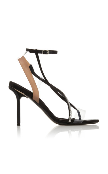 N°21 Bejeweled Strappy Sandals Size: 37.5 in black