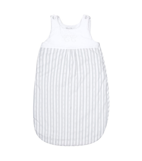 Tartine et Chocolat Baby striped cotton bunting bag in white