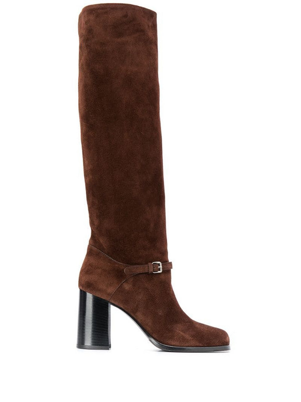 Miu Miu knee-length 90mm boots in brown