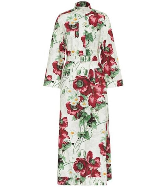 Gucci Printed cotton-poplin maxi dress