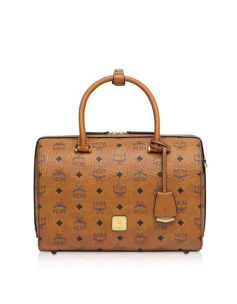Mcm Essential Visetos Original Boston Bag 30 Cm