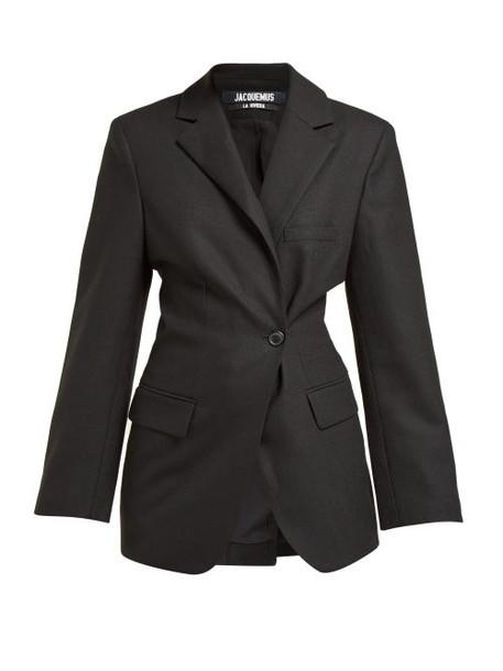 Jacquemus - Slim Fit Wool Blazer - Womens - Black