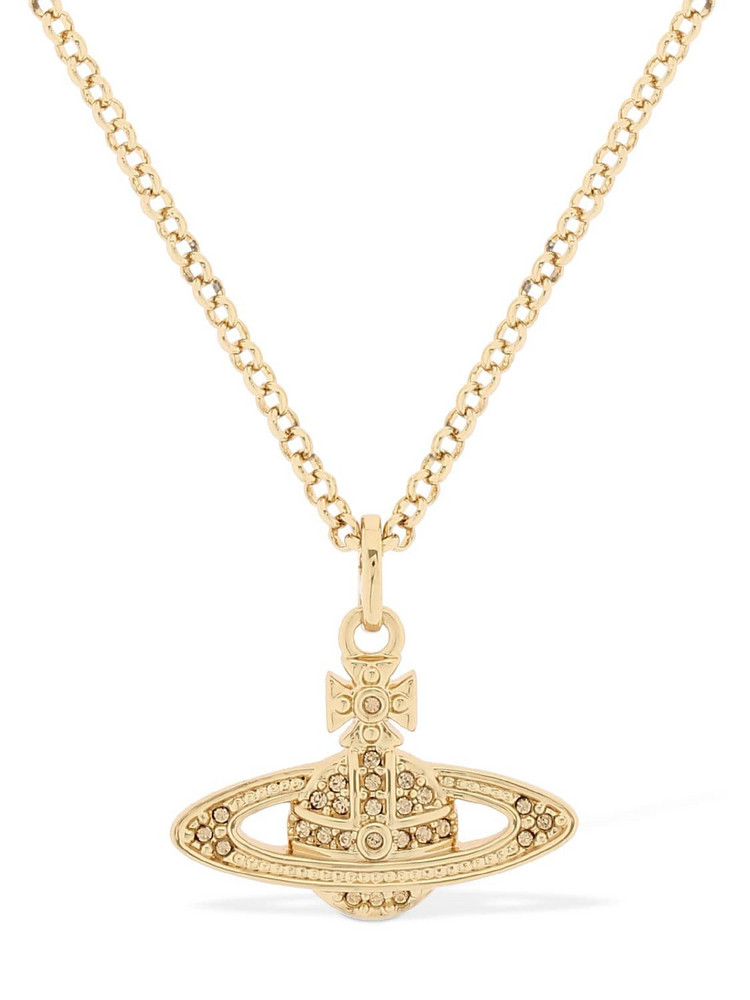VIVIENNE WESTWOOD Mini Orbit Pendant Necklace in gold
