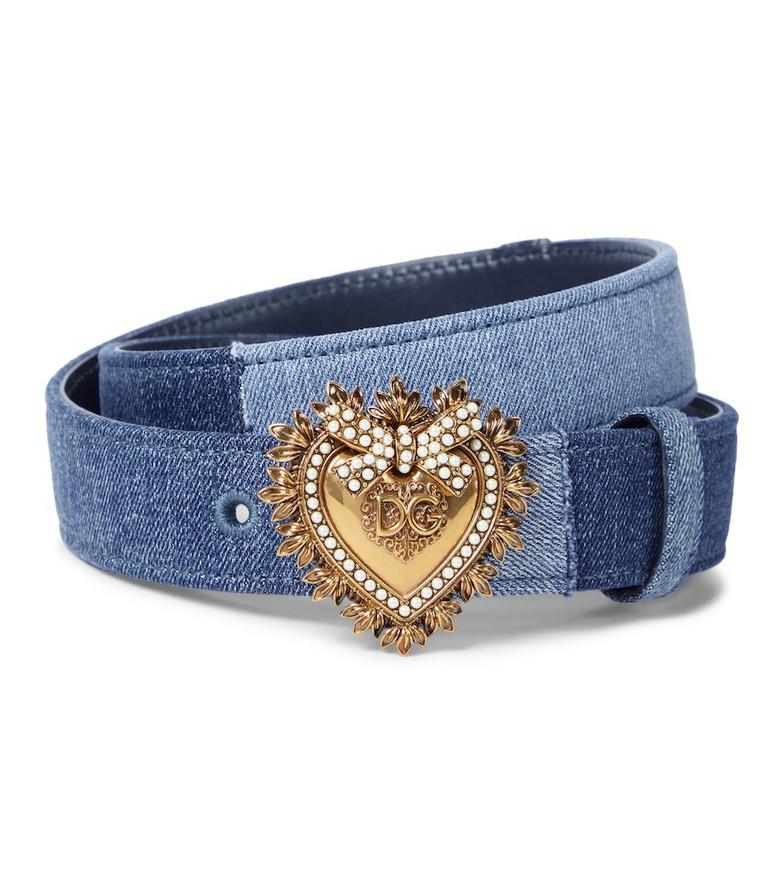 Dolce & Gabbana Devotion denim belt in blue