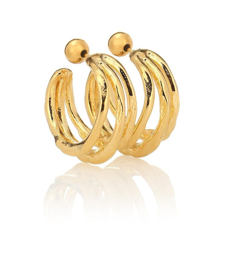 Sophie Buhai Vine Large 18kt gold-plated hoop earrings