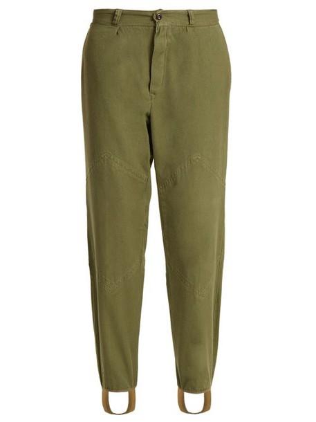 Myar - 1960s Bulgarian Army Cotton Field Trousers - Womens - Khaki