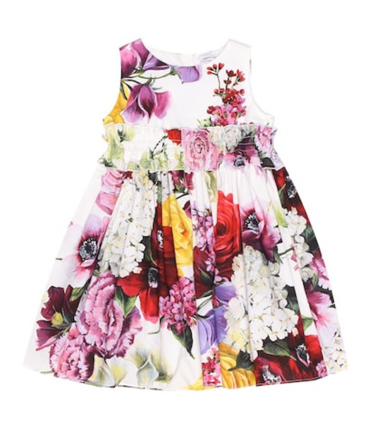 Dolce & Gabbana Kids Floral cotton poplin dress