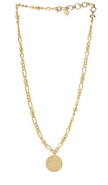 gorjana Banks Coin Necklace in Metallic Gold