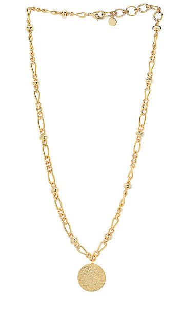 gorjana Banks Coin Necklace in Metallic Gold
