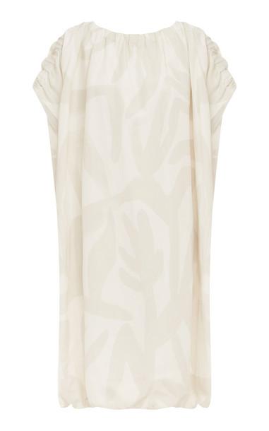 LEE MATHEWS Alexa Smock Dress in white
