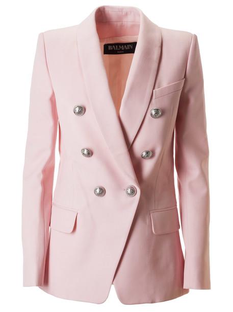 Balmain Double Breasted Blazer in rose