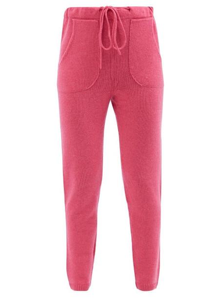The Elder Statesman - Drawstring Cashmere Sweatpants - Womens - Pink