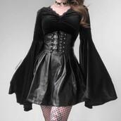 top,long sleeved top,velvet top,black velvet top