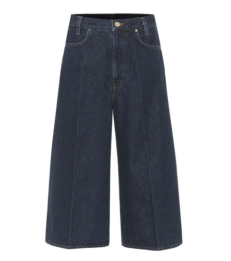 Goldsign Covell high-rise denim culottes in blue