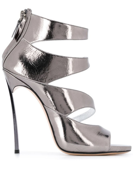 Casadei strappy ankle sandals in silver