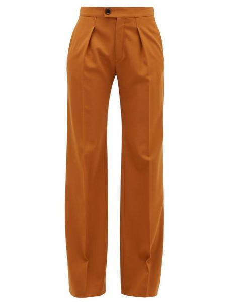 Chloé Chloé - High-rise Wide-leg Wool-blend Trousers - Womens - Camel