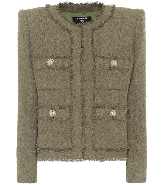Balmain Tweed jacket in green