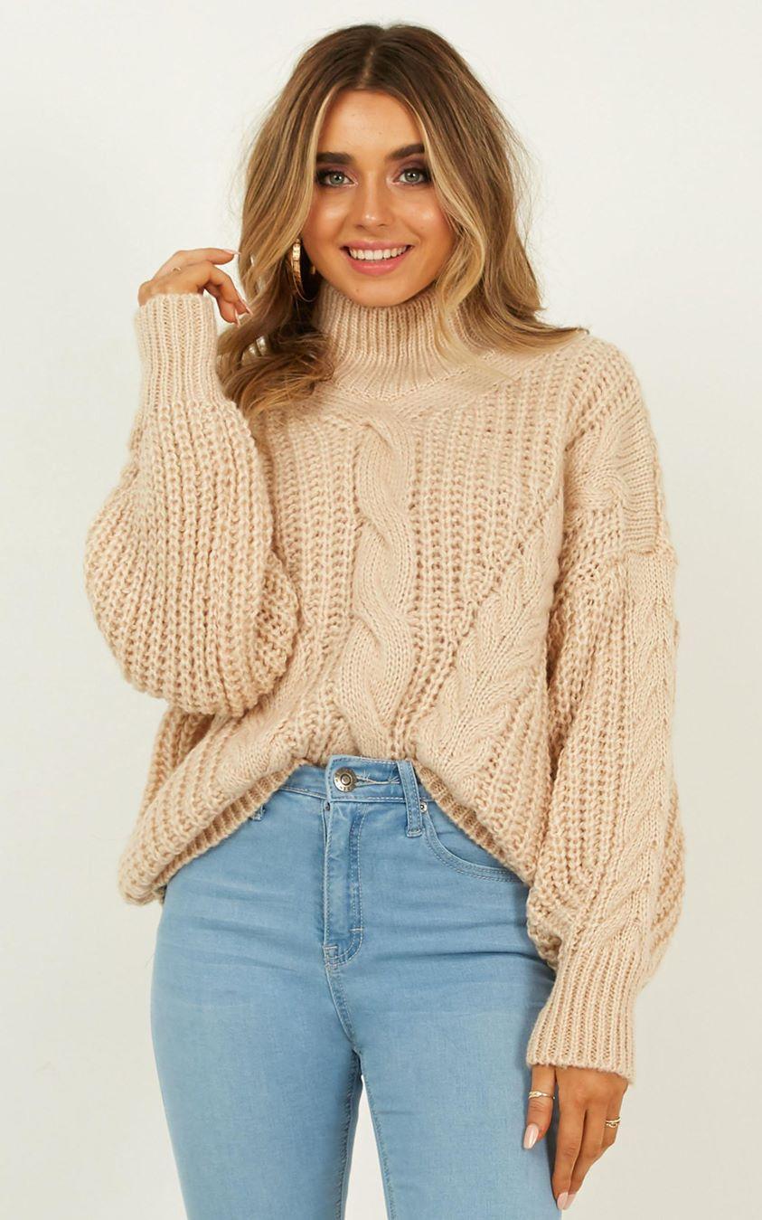 Only Just Begun Knit Jumper In Cream