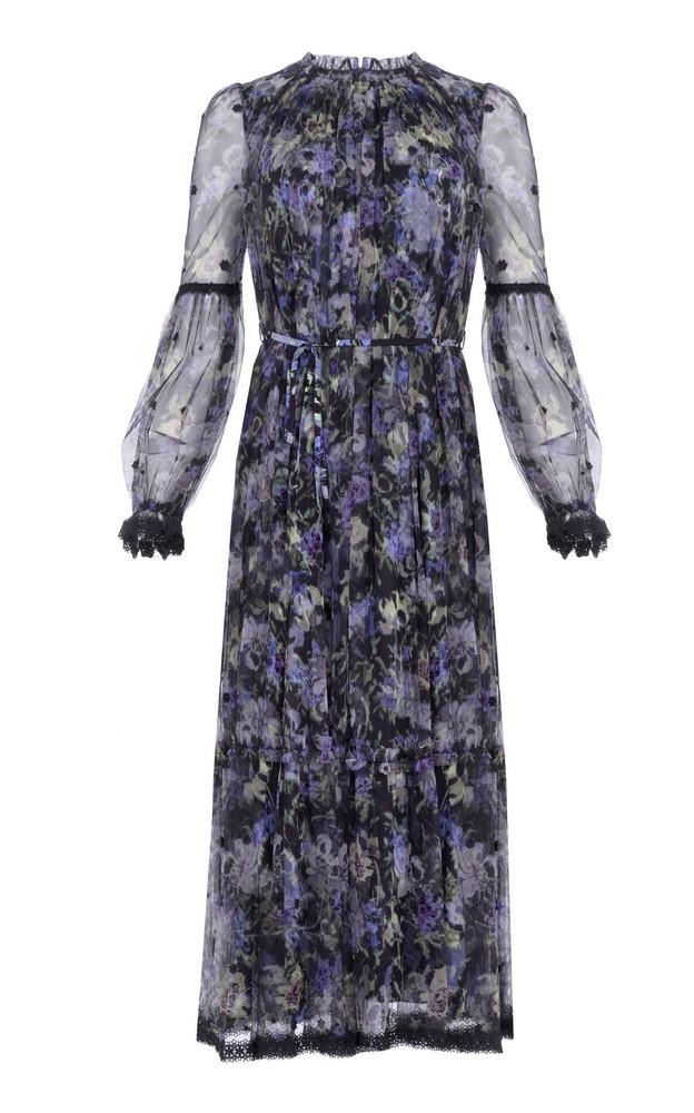 Needle & Thread Lilacs Ditsy Ballerina Dress in blue