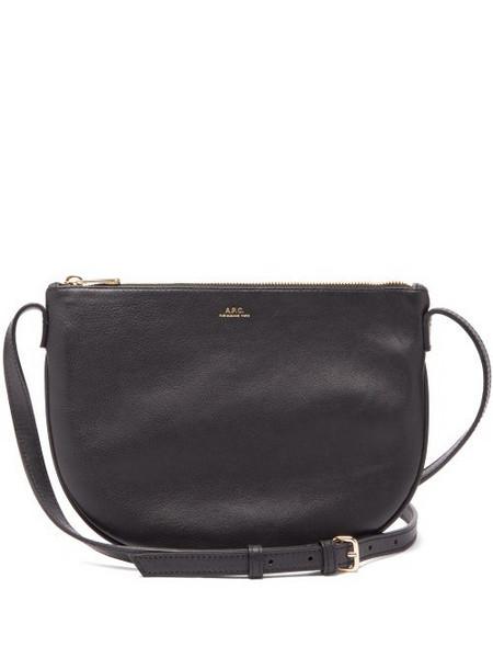 A.P.C. A.p.c. - Maelys Leather Cross Body Bag - Womens - Black