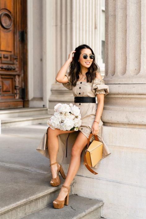 wendy's lookbook blogger bag jewels sunglasses dress platform pumps spring outfits