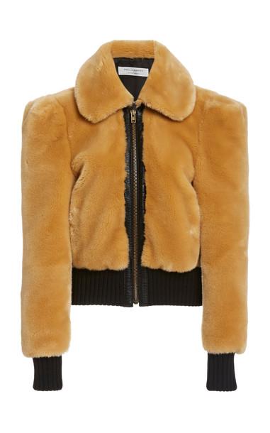 Philosophy di Lorenzo Serafini Faux Fur Cropped Jacket in neutral