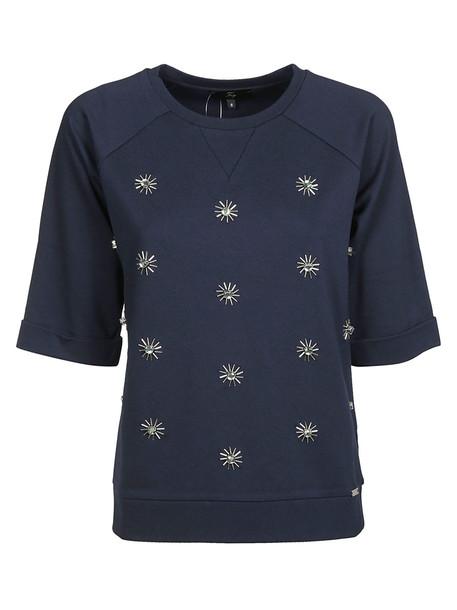 Fay Jewel Applique Sweatshirt in navy