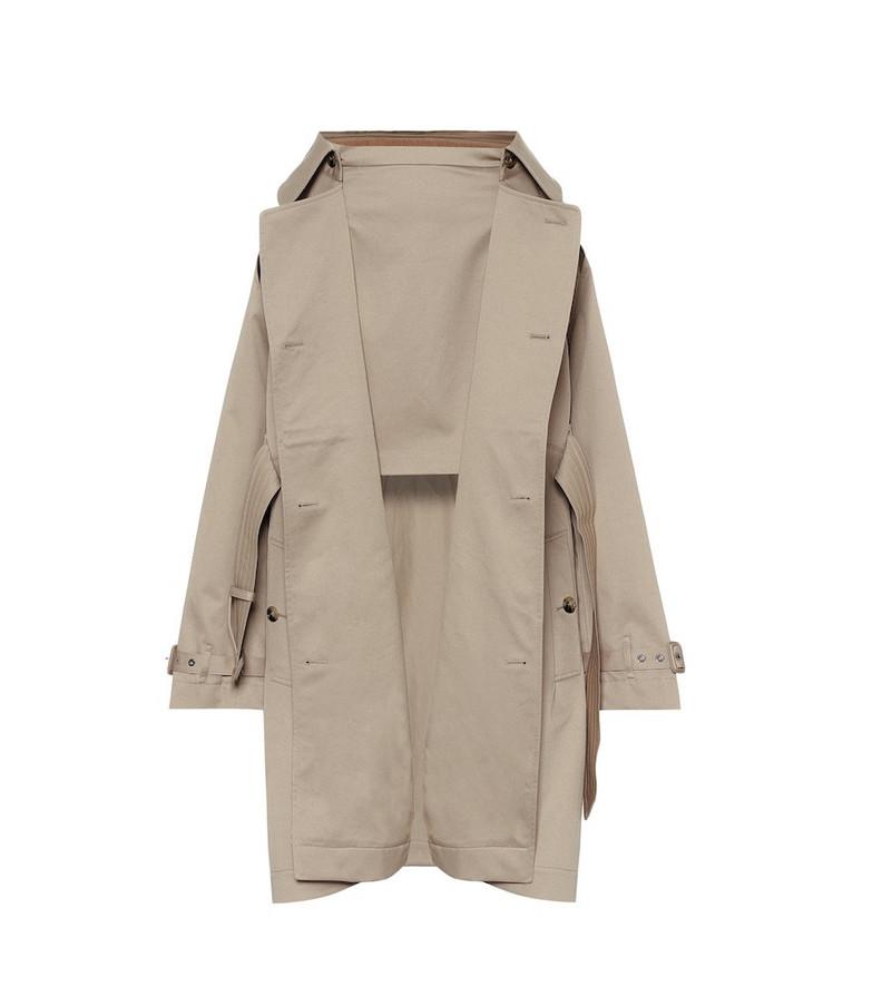 Burberry Cotton-gabardine trench coat in beige