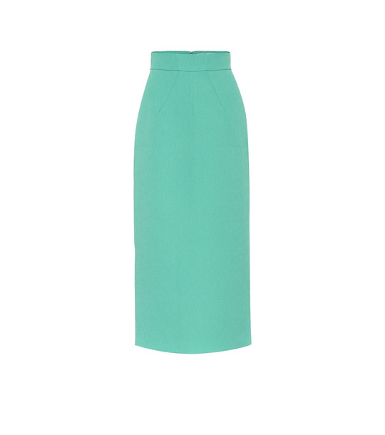 Emilia Wickstead Lorinda cloqué pencil skirt in blue