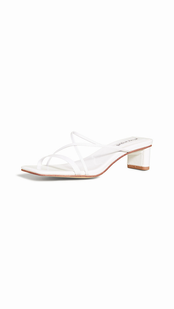 Jeffrey Campbell Mural Lo 2 Slide Sandals in white