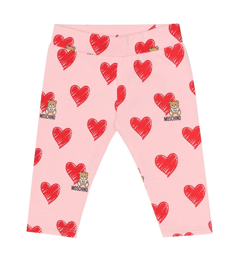 Moschino Kids Baby printed stretch-cotton pants in pink