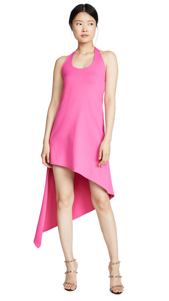 Susana Monaco Spiral Halter Dress in pink