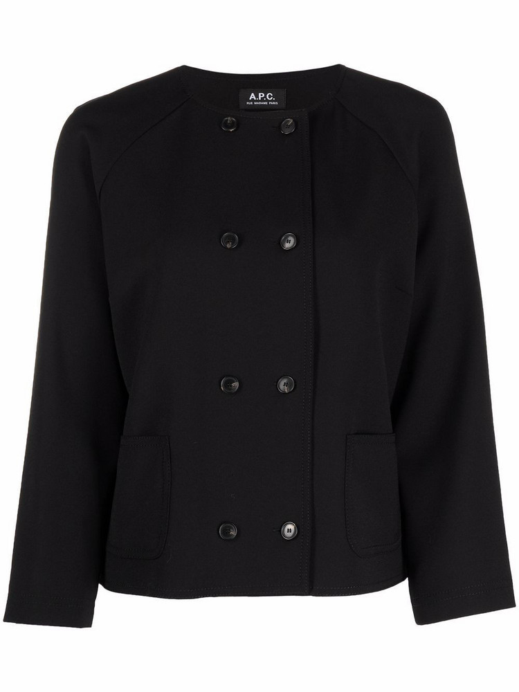 A.P.C. A.P.C. Minni lightweight double-breasted jacket - Black