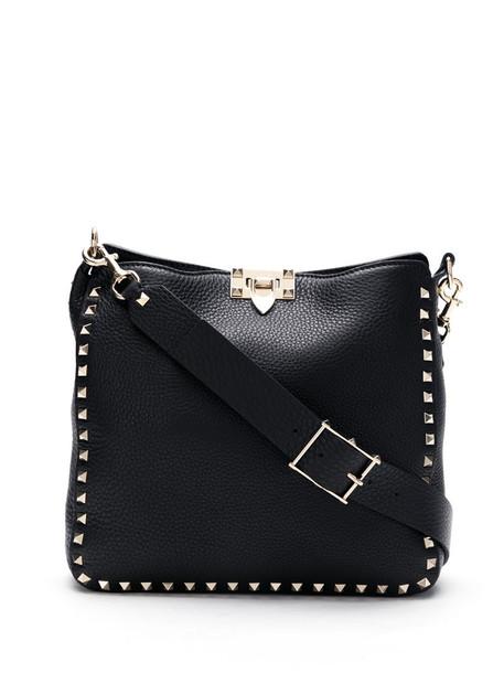 Valentino Garavani Rockstud-embellished shoulder bag in black
