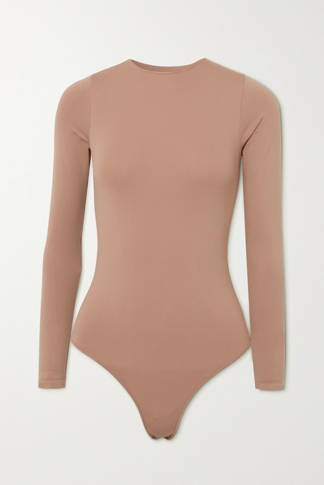 SKIMS - Essential Crew Neck Thong Bodysuit - Tiger's Eye in neutrals