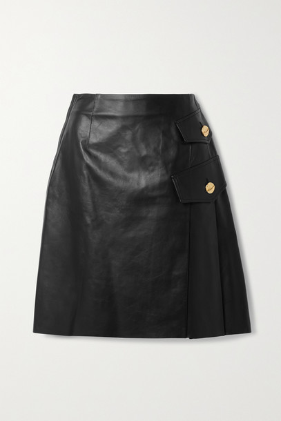 PROENZA SCHOULER - Pleated Leather Skirt - Black