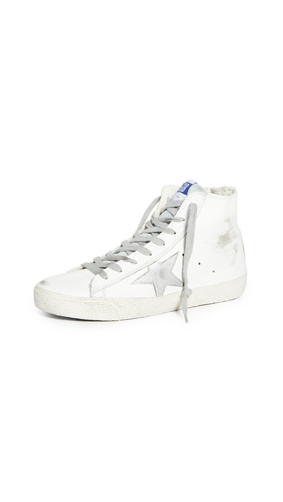 Golden Goose Francy Sneakers in silver / white