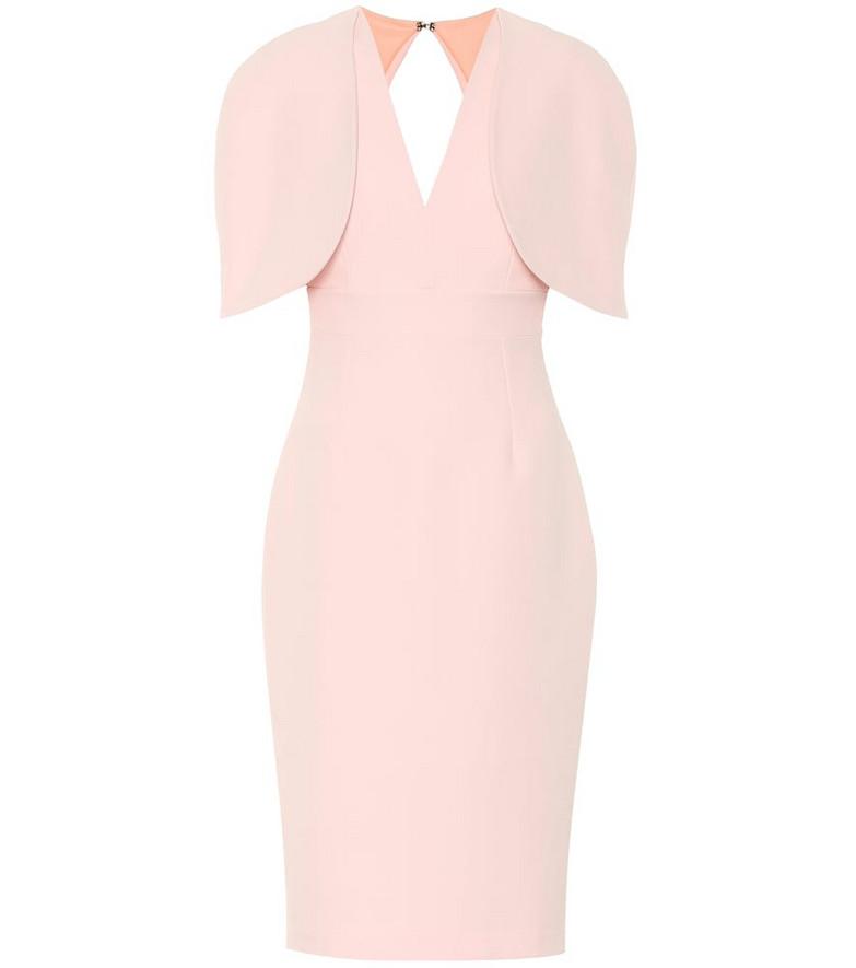 Safiyaa Cora crêpe dress in pink