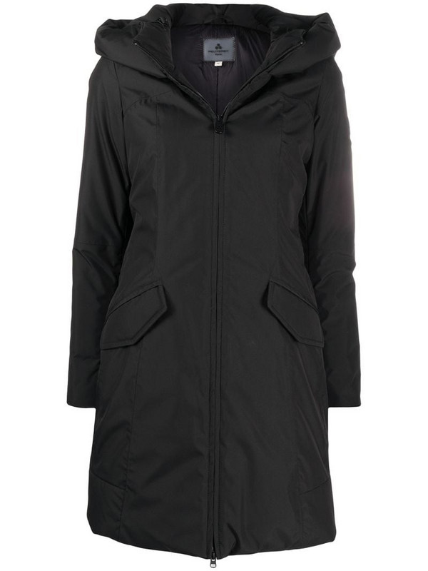 Peuterey hooded padded parka in black