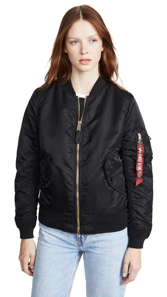 Alpha Industries MA-1 Bomber Jacket in black