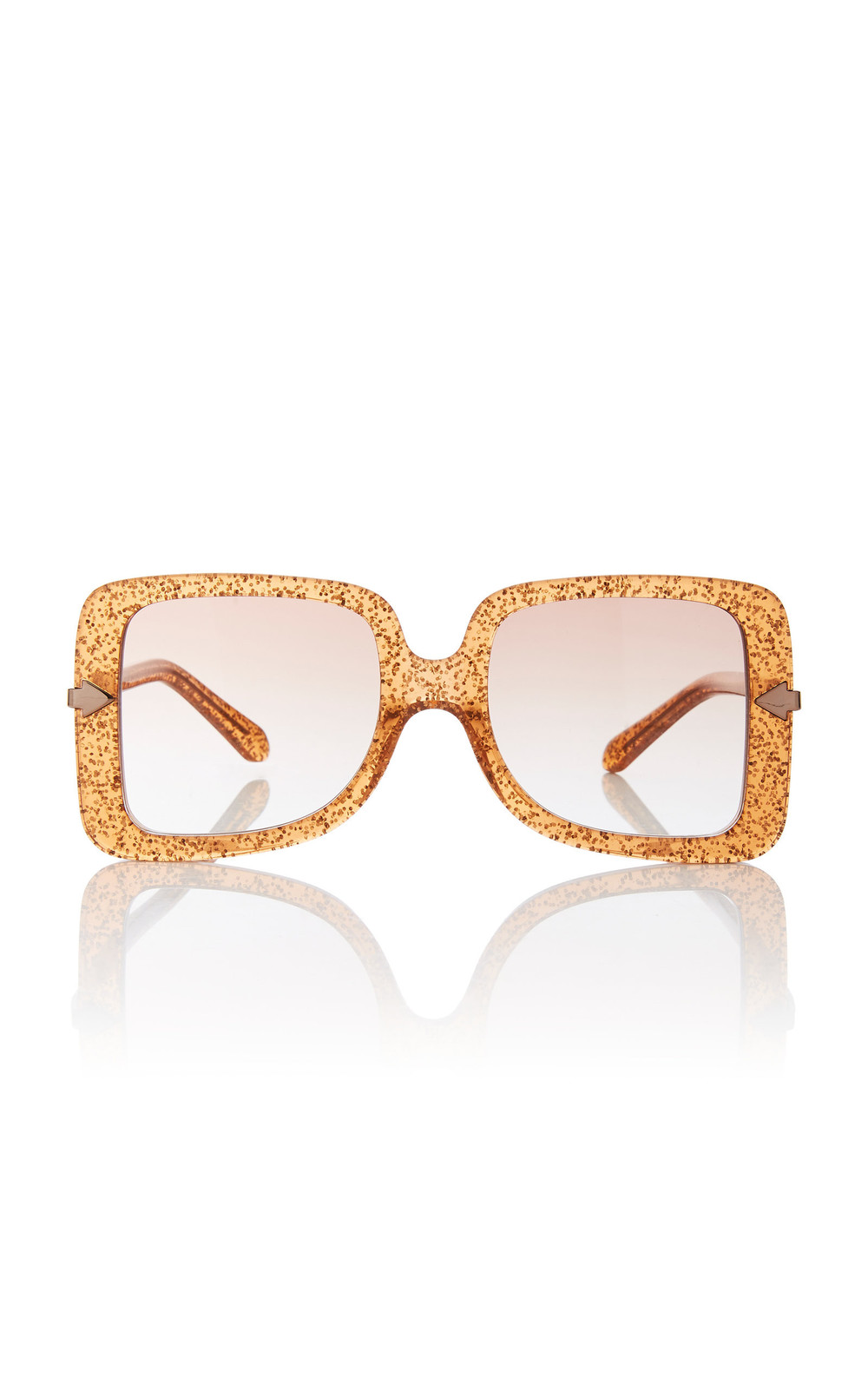 Karen Walker Eden Square-Frame Acetate Sunglasses in orange
