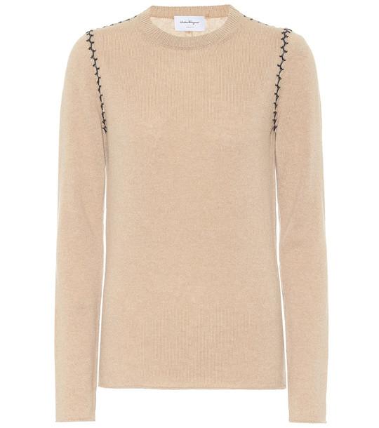 Salvatore Ferragamo Cashmere sweater in beige