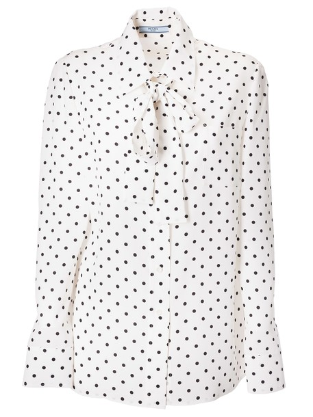 Prada Polka-dot Shirt in nero